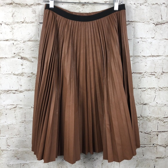 7174b67fbd BCBGMaxAzria Skirts | Bcbg Elsa Sunburst Pleated Faux Leather Skirt ...